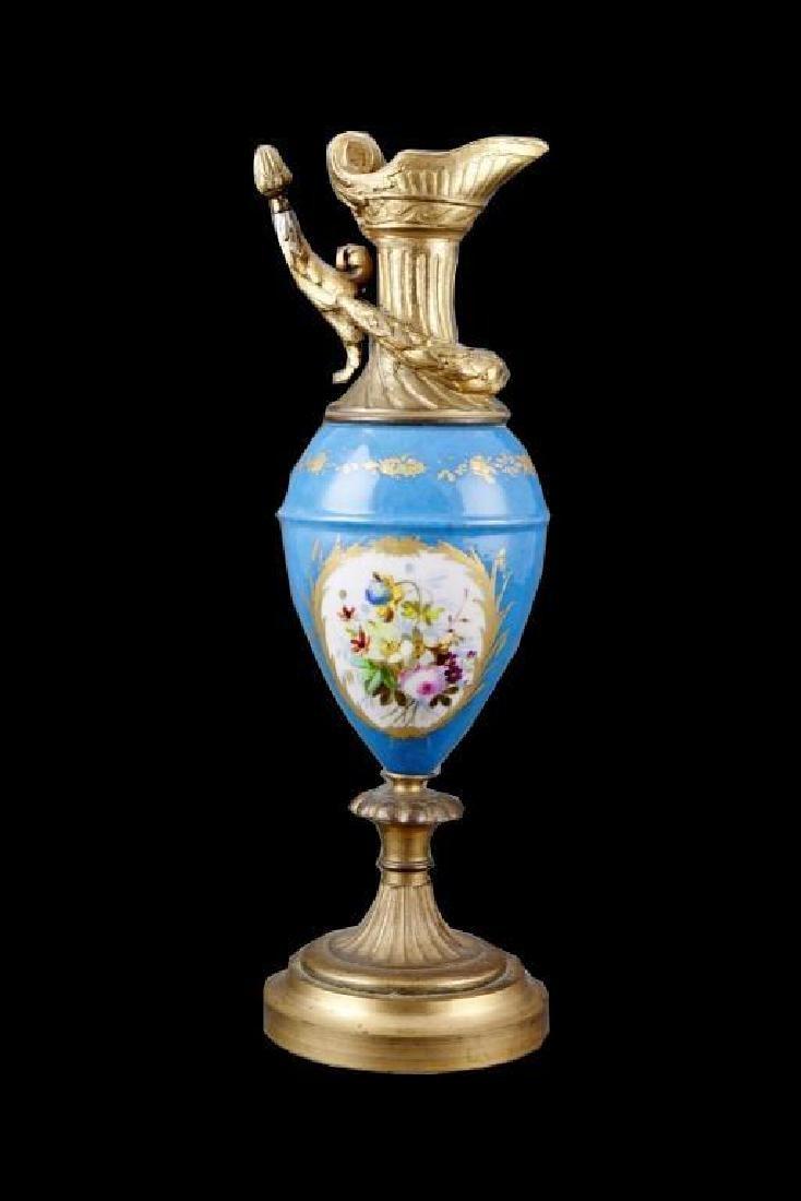 19thc Porcelain & Gilt Urn - 3