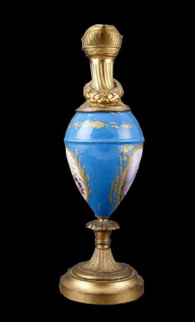 19thc Porcelain & Gilt Urn - 4