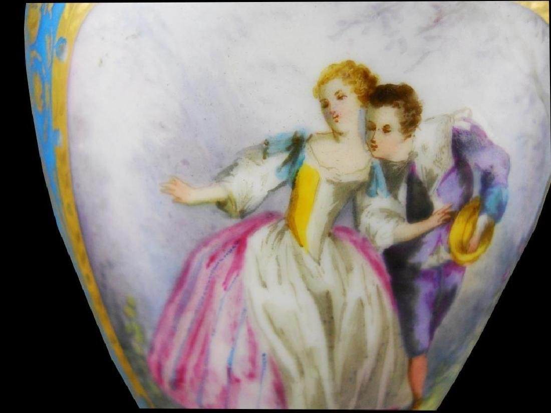 19thc Porcelain & Gilt Urn - 5