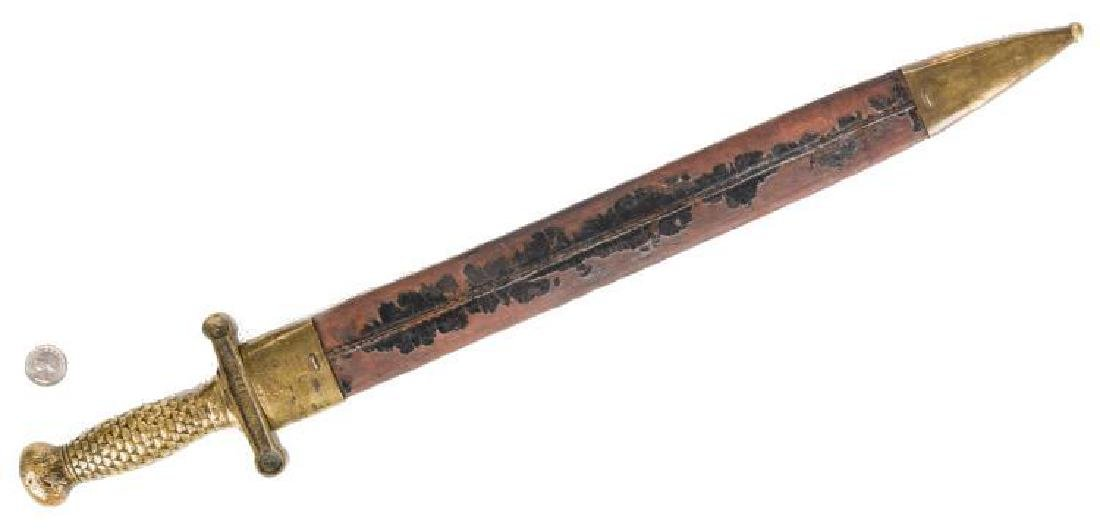 Artillery Short Sword & Scabbard, Poss. Confederate