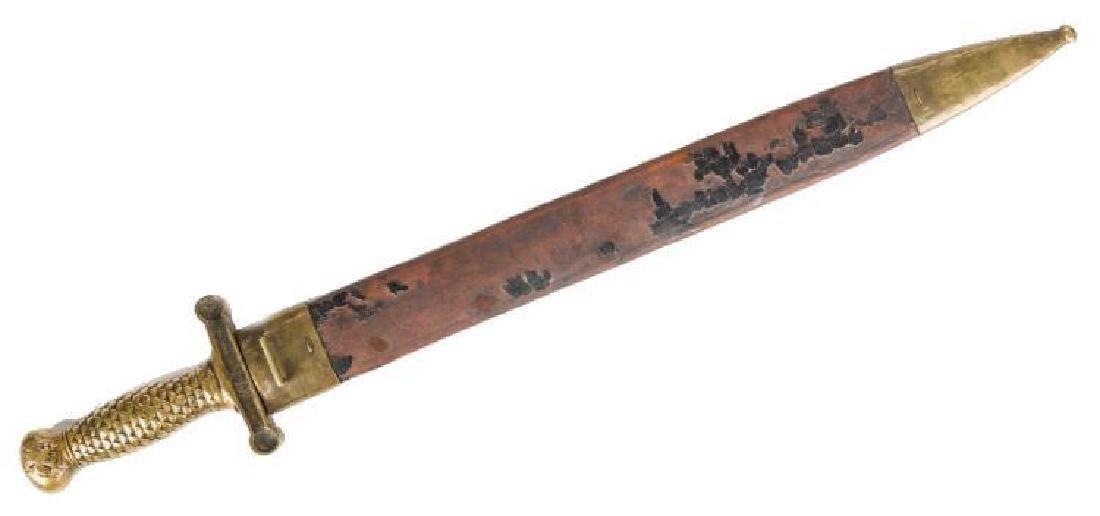 Artillery Short Sword & Scabbard, Poss. Confederate - 2
