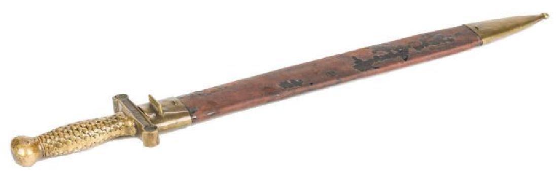 Artillery Short Sword & Scabbard, Poss. Confederate - 3