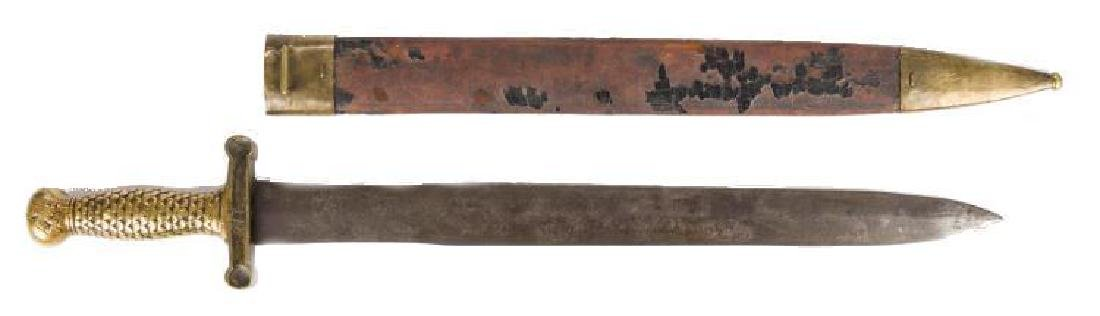 Artillery Short Sword & Scabbard, Poss. Confederate - 4