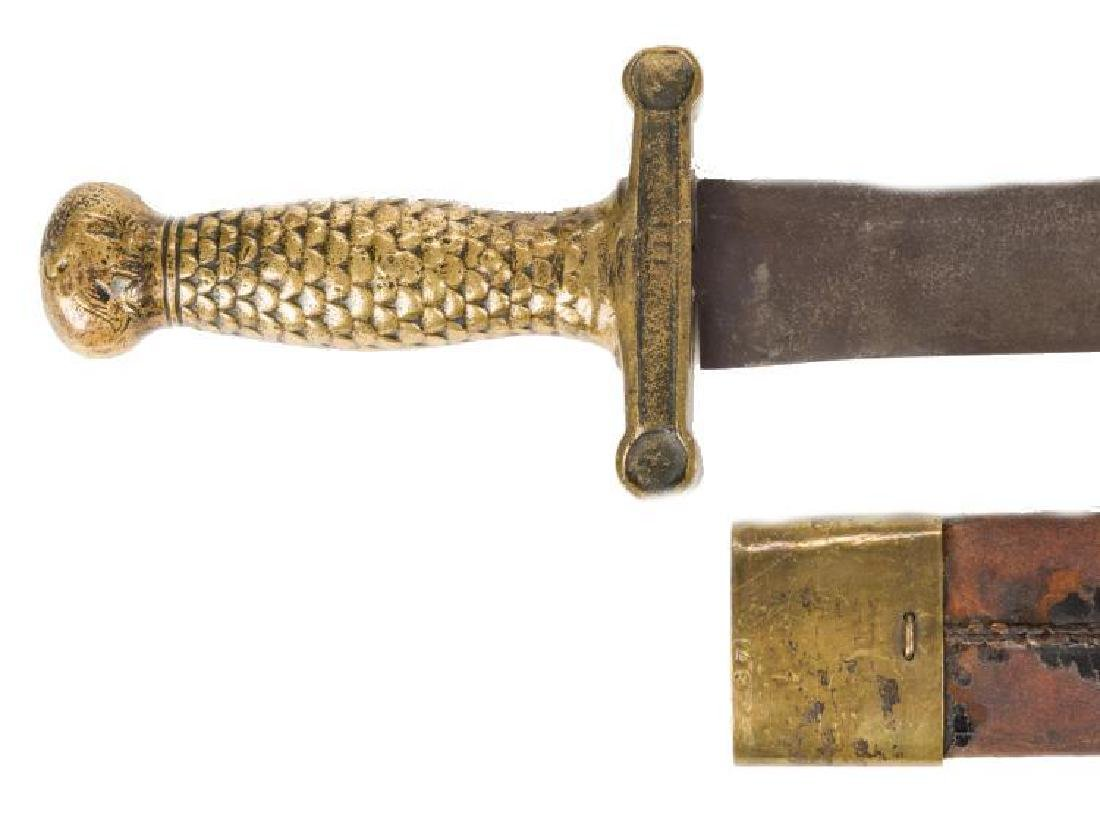 Artillery Short Sword & Scabbard, Poss. Confederate - 8