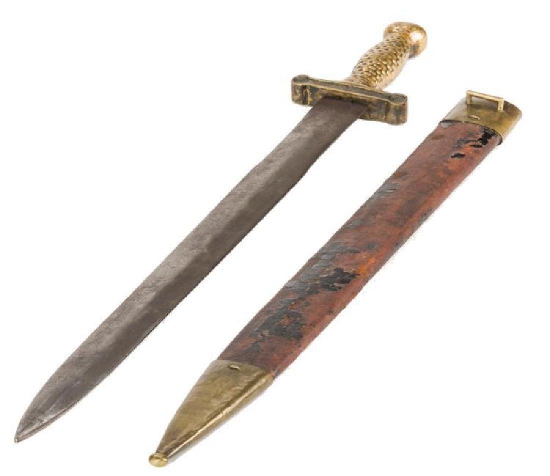 Artillery Short Sword & Scabbard, Poss. Confederate - 9