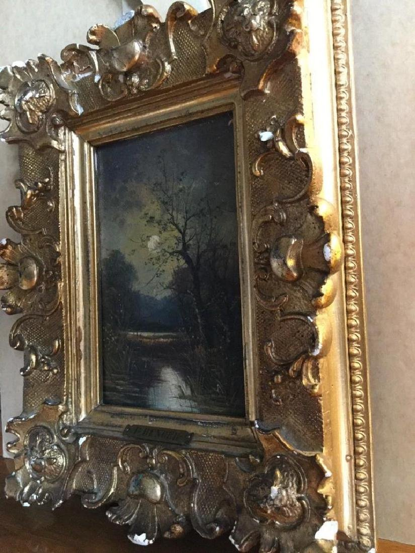 Antique 1833 Oil On Board English Sunset by R. Benger, - 10