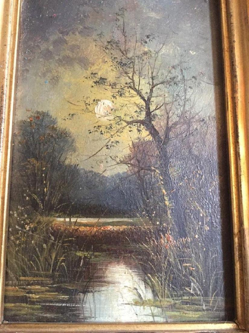 Antique 1833 Oil On Board English Sunset by R. Benger, - 3