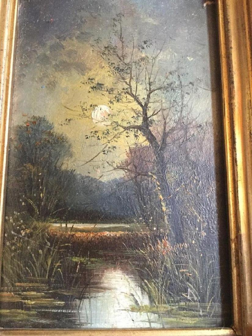 Antique 1833 Oil On Board English Sunset by R. Benger, - 4