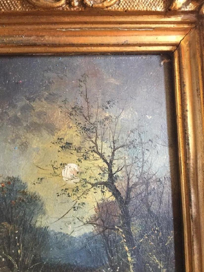 Antique 1833 Oil On Board English Sunset by R. Benger, - 5