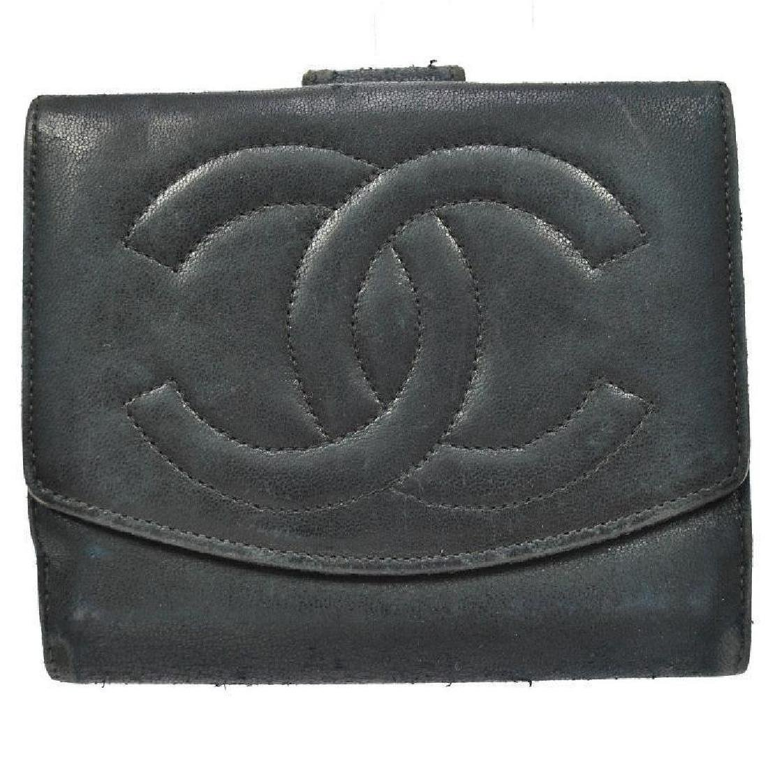 Authentic Vintage CHANEL Leather Wallet