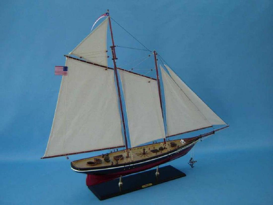 """Wooden America Model Sailboat Decoration 50"""" Limited - 7"""