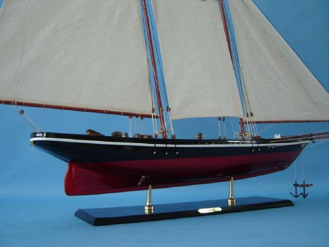 """Wooden America Model Sailboat Decoration 50"""" Limited - 8"""