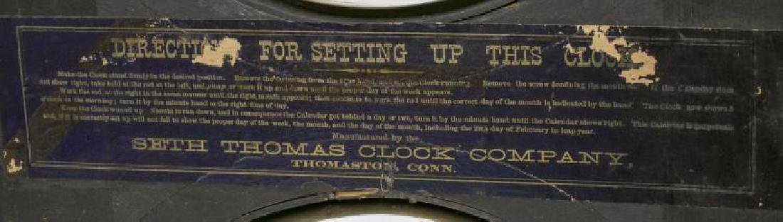 Seth Thomas Rosewood Cased Calendar Clock - 5