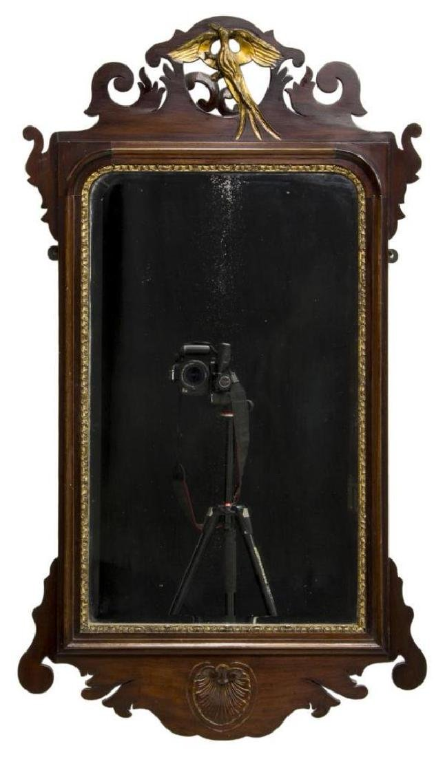 Chippendale Parcel Gilt Carved Mahogany Mirror - 2