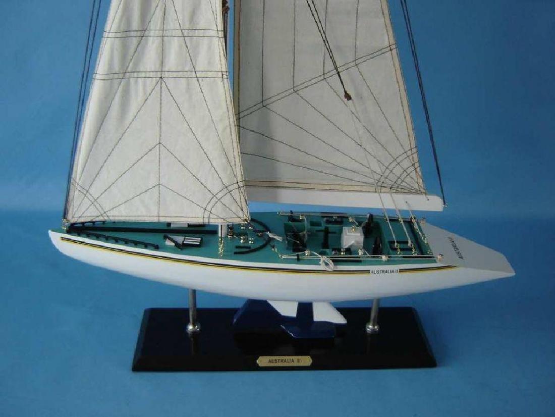 "Wooden Australia 2 Limited Model Yacht 40"" - 4"