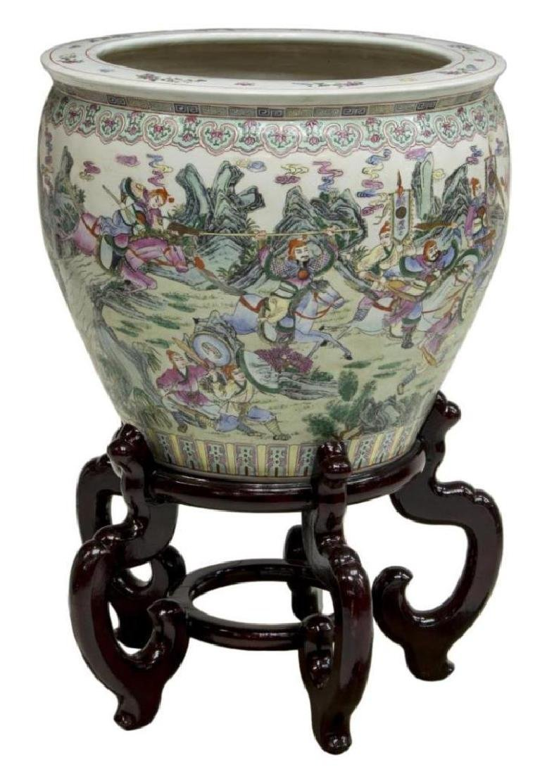 Chinese Famille Rose Enameled Porcelain Fish Bowl