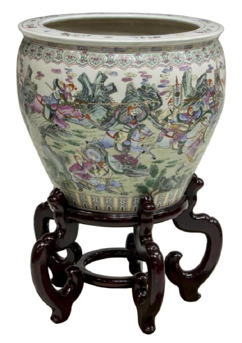 Chinese Famille Rose Enameled Porcelain Fish Bowl