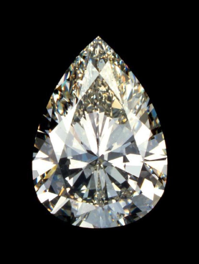 3Ct. Pear Cut BIANCO Diamond