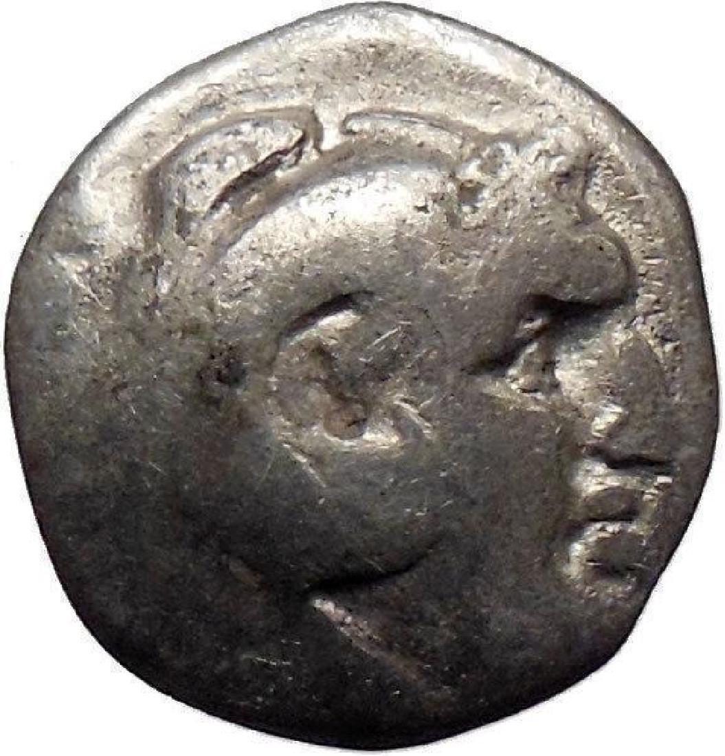Greek Silver Tetrobol Coin, 281-200 B.c.