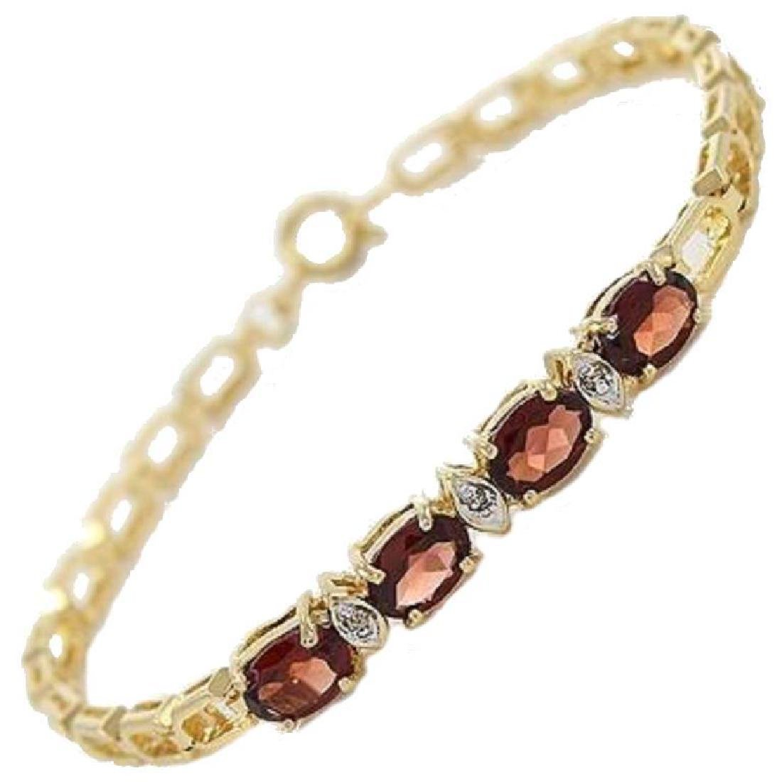 Garnet & Diamond Bracelet