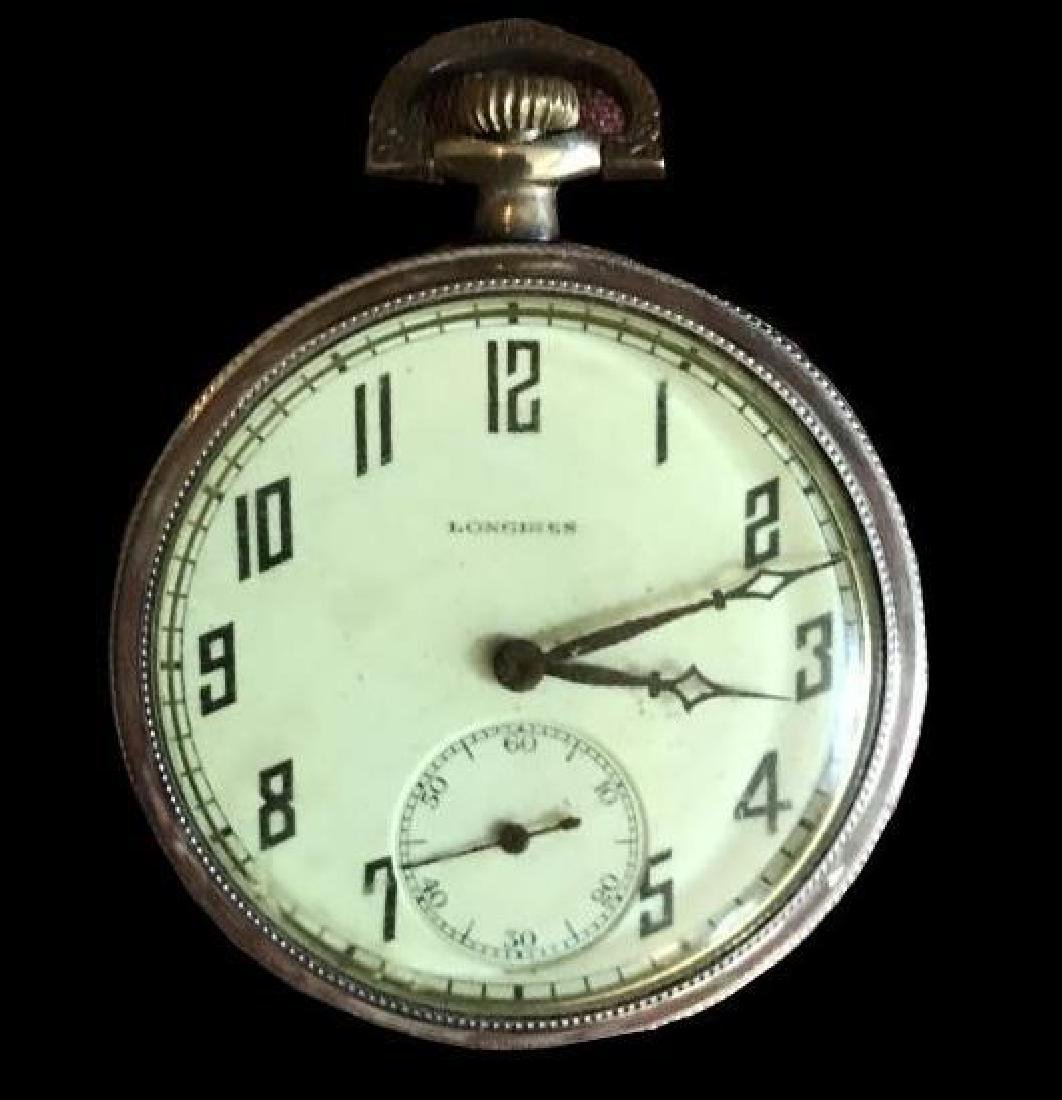 1905 Longines 17 Jewels Gold Filled Pocket Watch - 2
