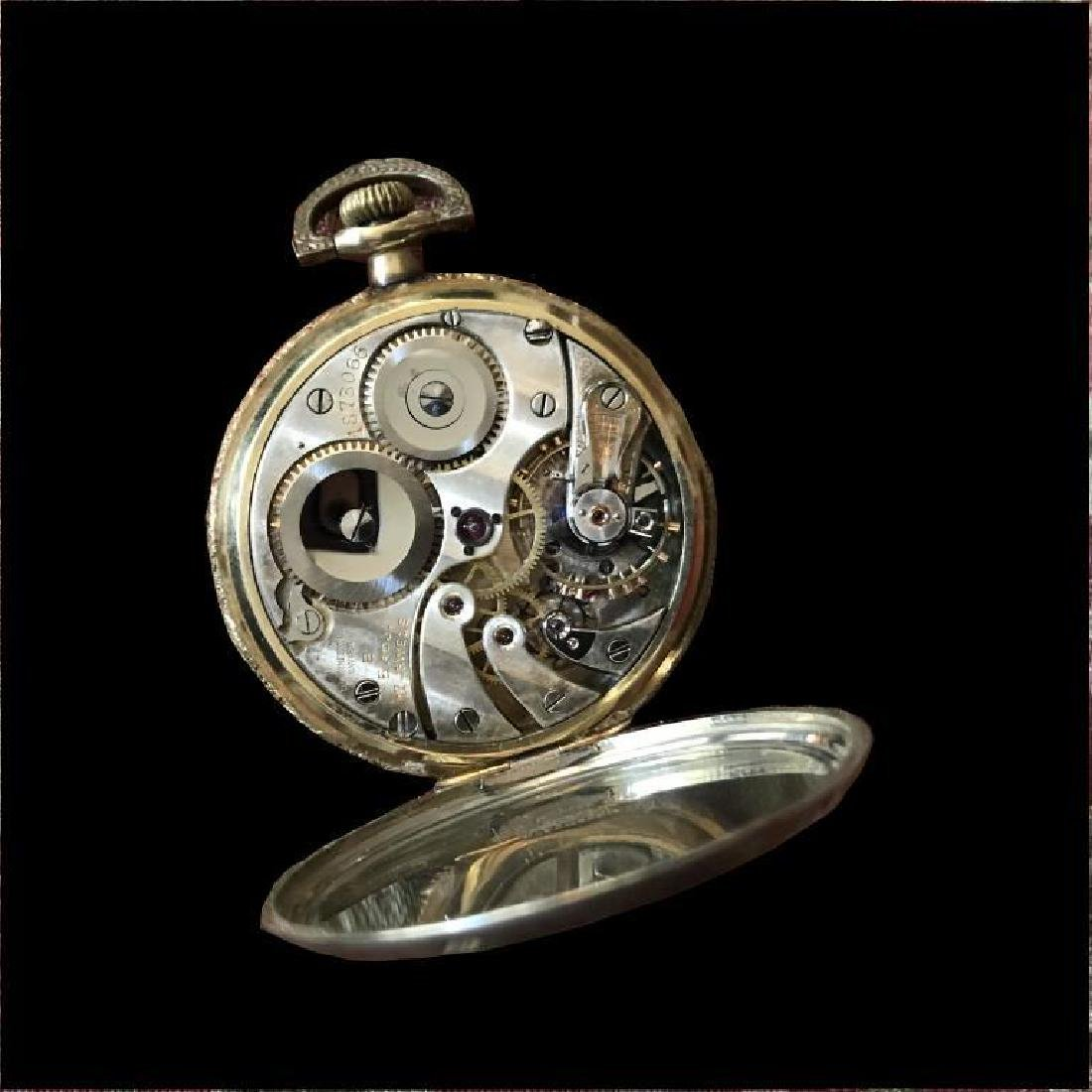 1905 Longines 17 Jewels Gold Filled Pocket Watch - 4