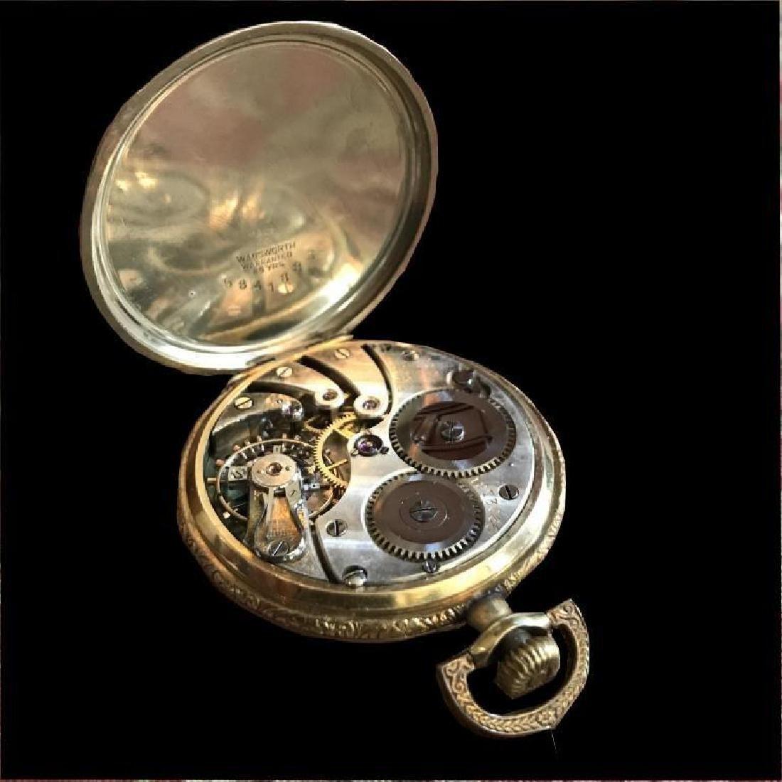 1905 Longines 17 Jewels Gold Filled Pocket Watch - 6