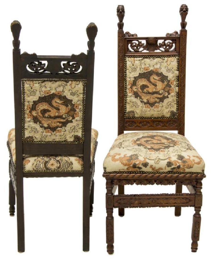 (8) Continental Gothic Revival Carved Side Chairs - 2