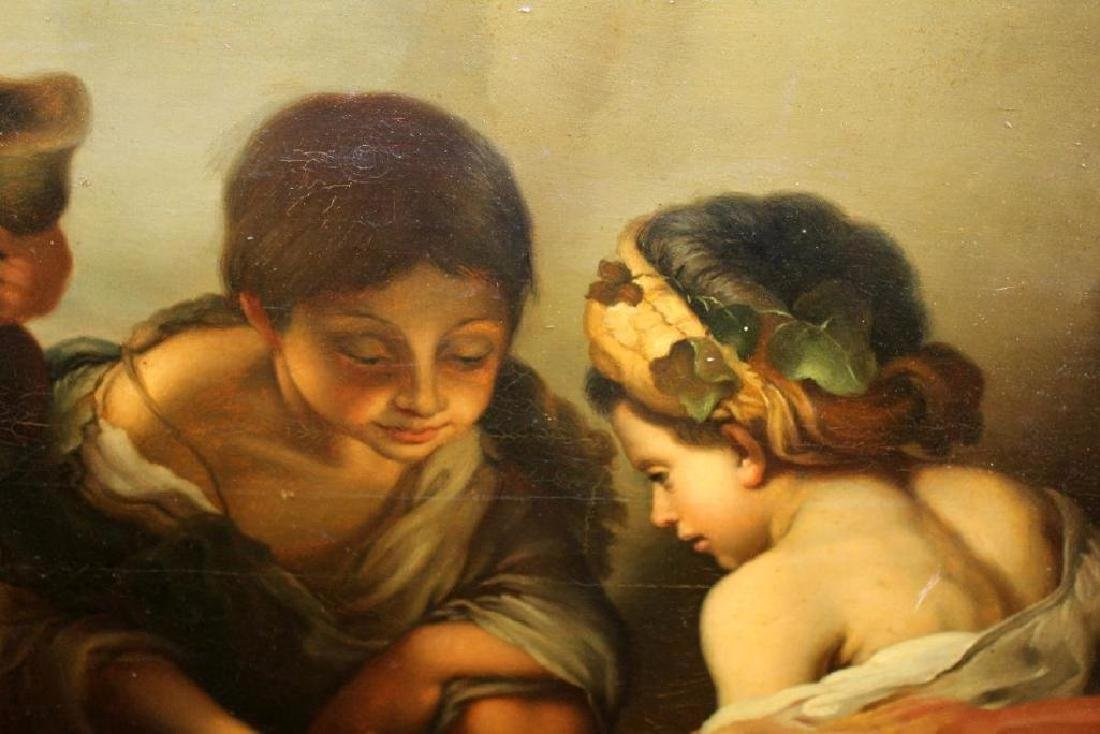 Oil On Canvas After Murillo Boys Playing Dice - 3