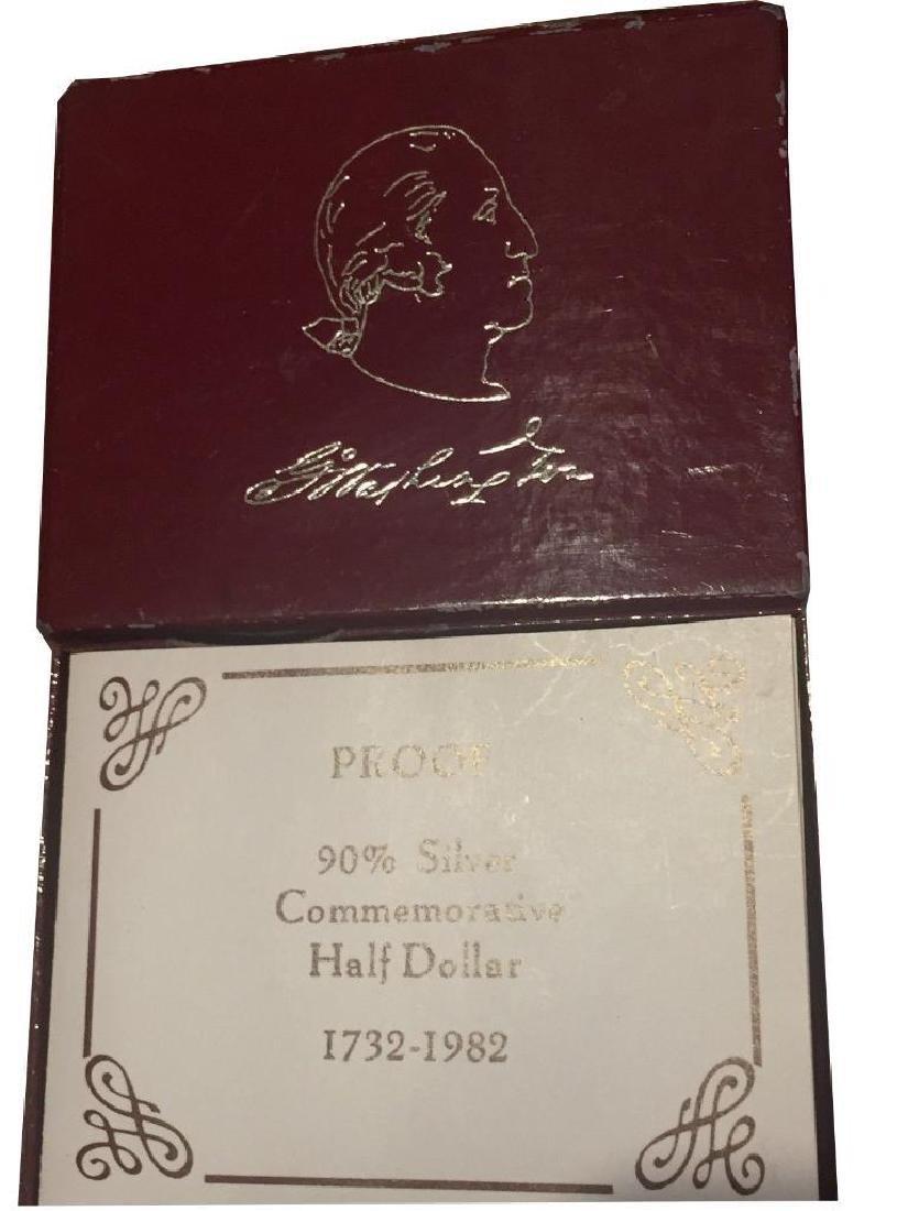 1986 George Washington Half Dollar 90% Silver - 3