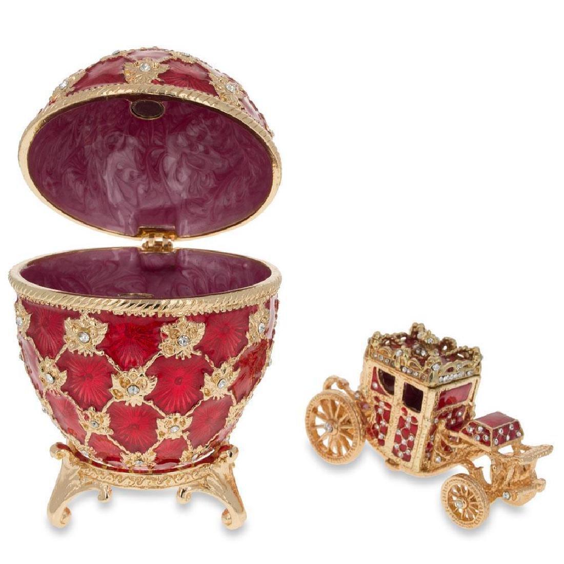 """1897 Coronation Faberge Egg 3.8"""" - 2"""