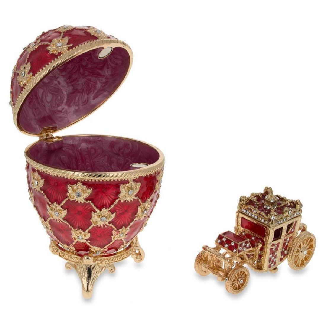 """1897 Coronation Faberge Egg 3.8"""" - 3"""
