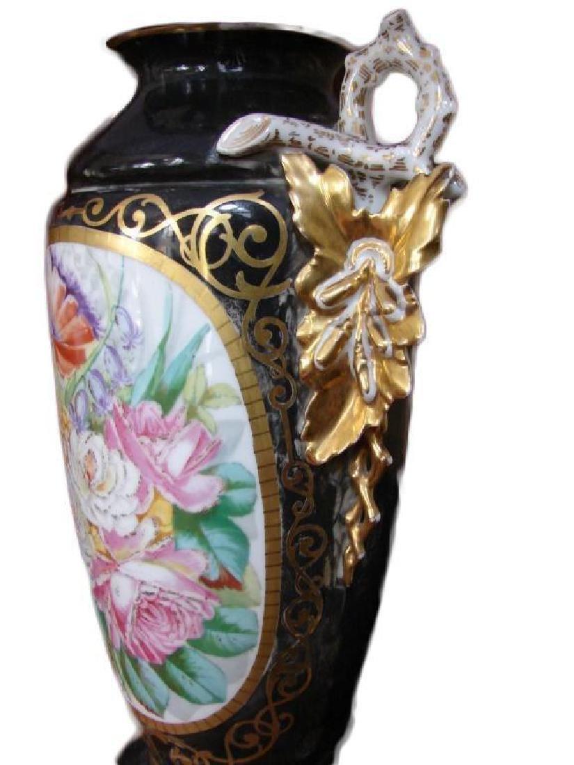 Early 20thc Pair of Paris Porcelain Vases, Lamps - 4