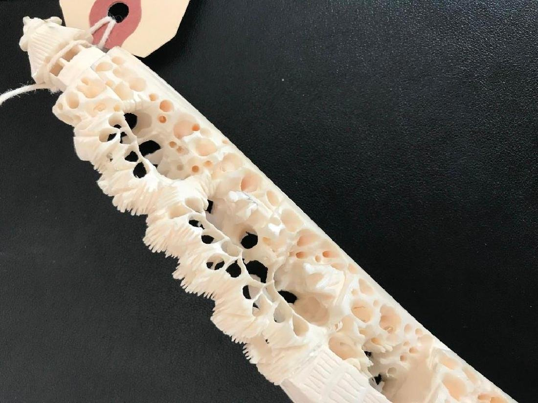 19thc Chinese Hand-carved Tusk - 2