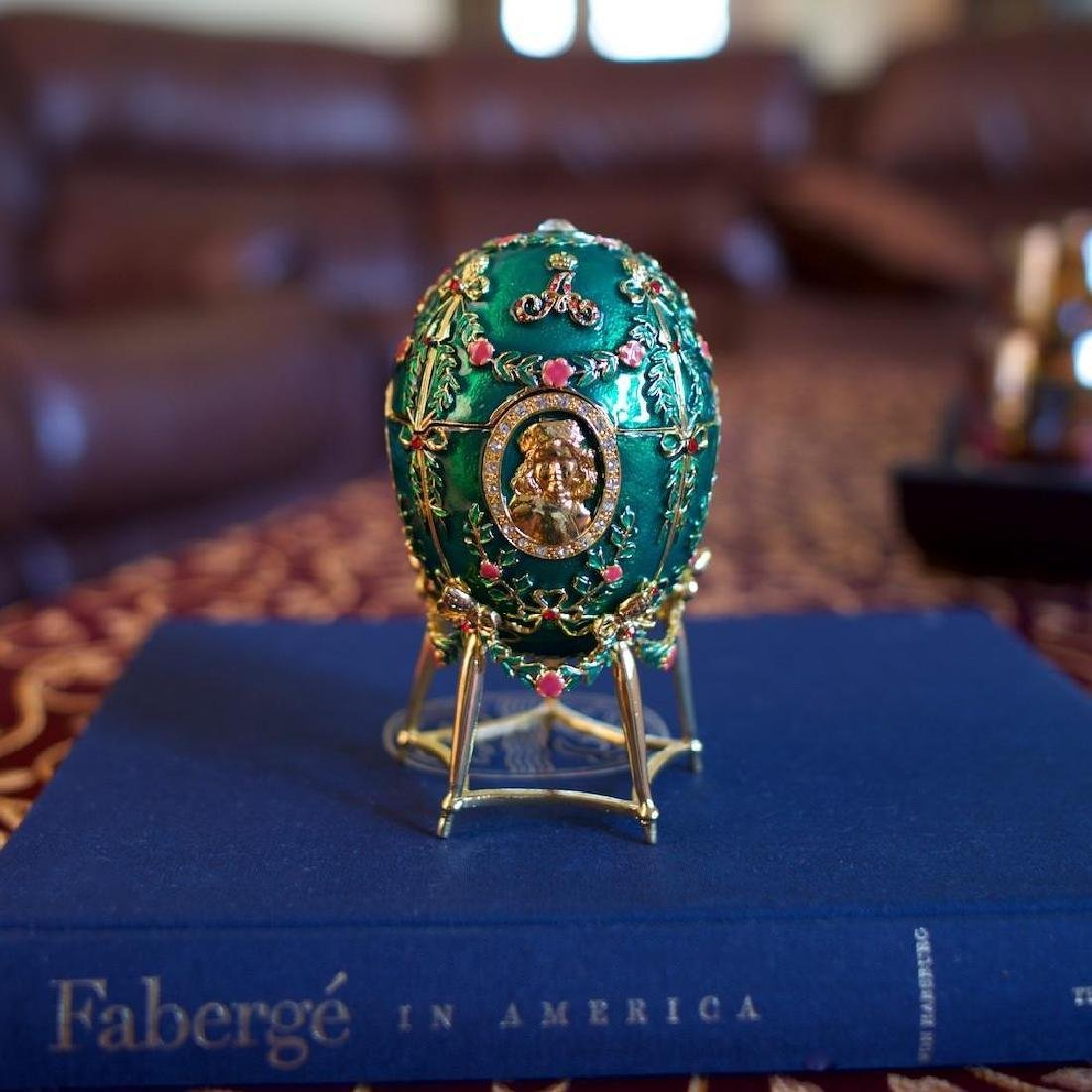 Faberge Inspired 1908 Alexander Palace Faberge Egg - 2