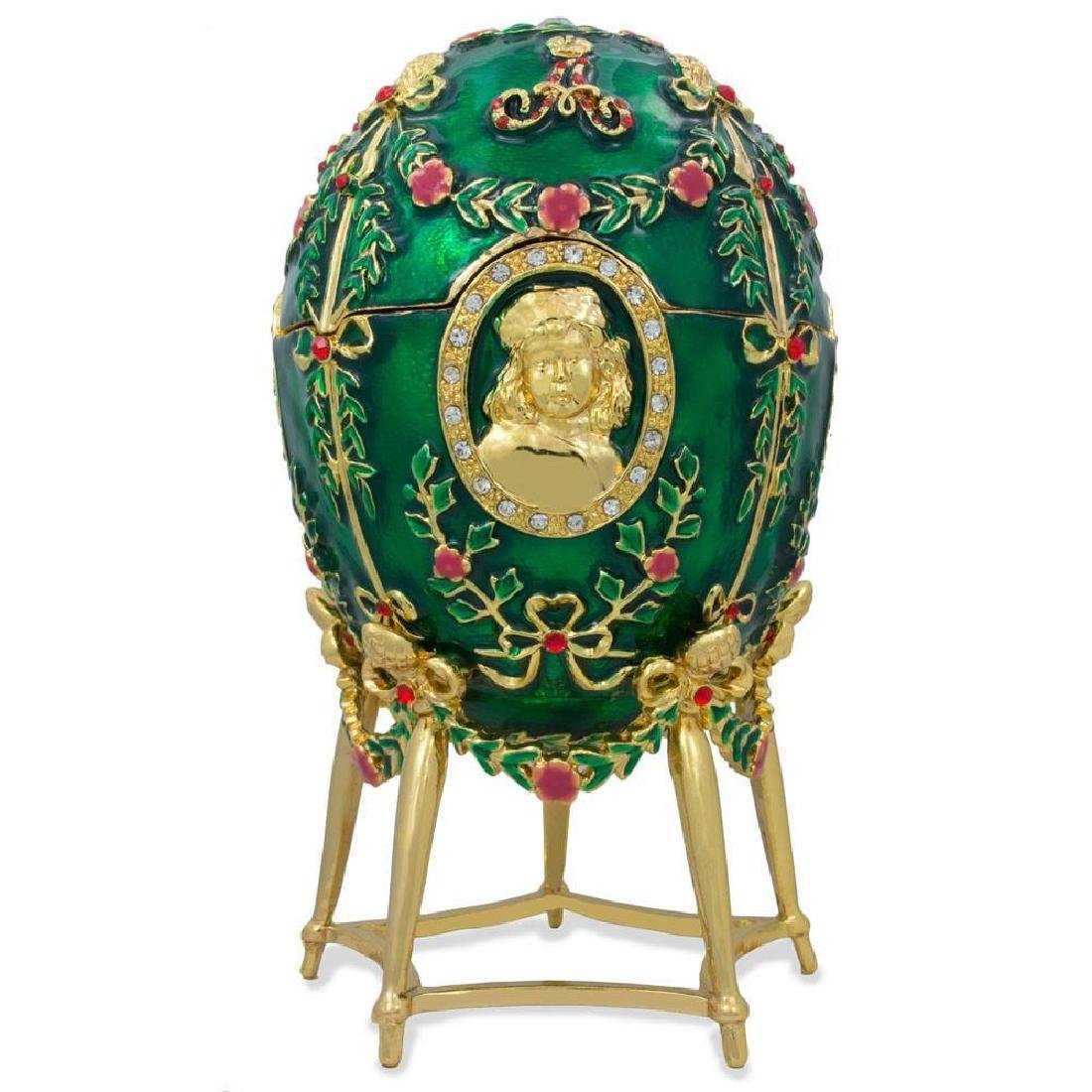 Faberge Inspired 1908 Alexander Palace Faberge Egg - 3