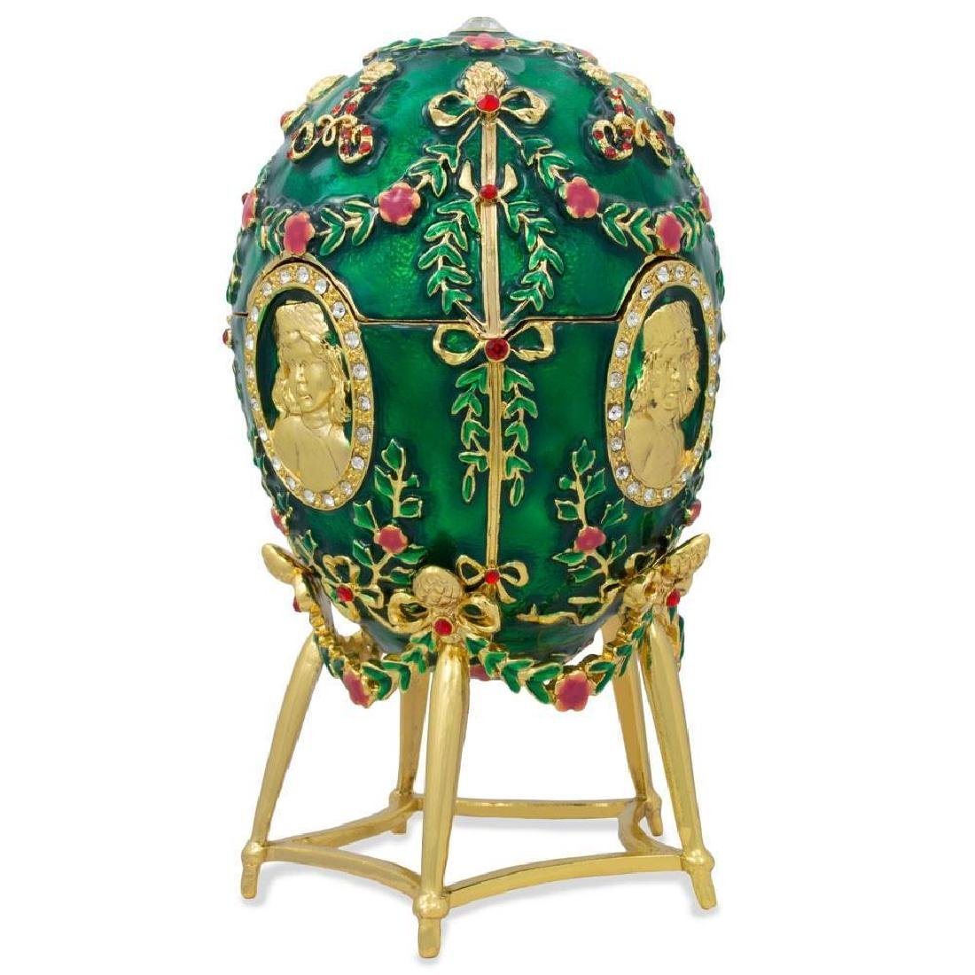 Faberge Inspired 1908 Alexander Palace Faberge Egg - 4
