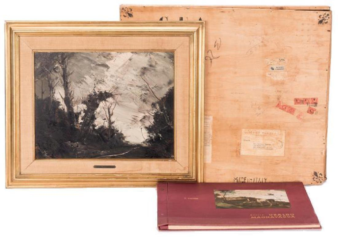 Ubaldo Magnavacca, Oil on Board, Landscape and more