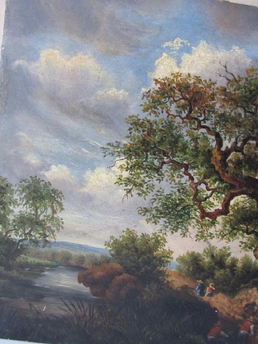 1878 Bucolic Oil Painting On Board Hoffmann - 2