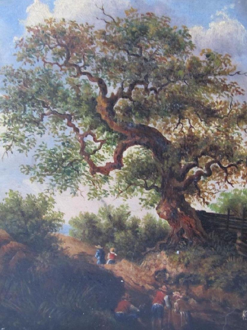 1878 Bucolic Oil Painting On Board Hoffmann - 3