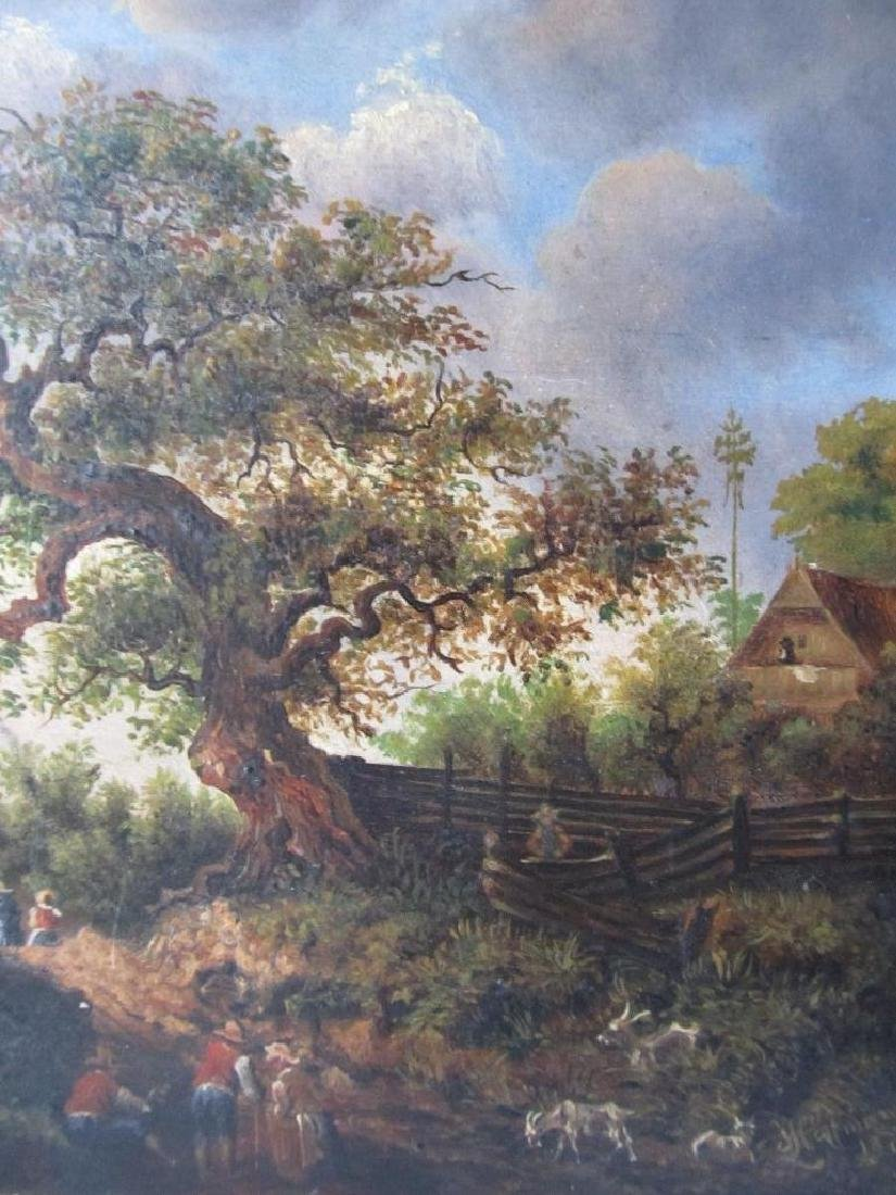 1878 Bucolic Oil Painting On Board Hoffmann - 6