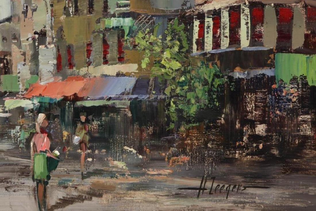 Signed Oil On Canvas, European Street Scene - 3