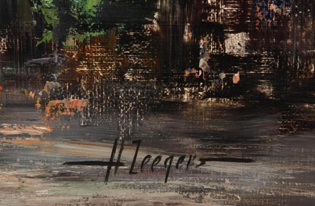 Signed Oil On Canvas, European Street Scene - 4