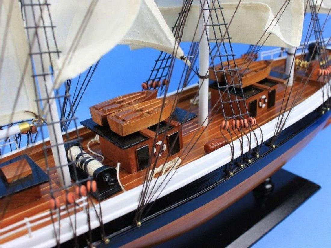 "Wooden Flying Cloud Tall Model Clipper Ship 30"" - 4"