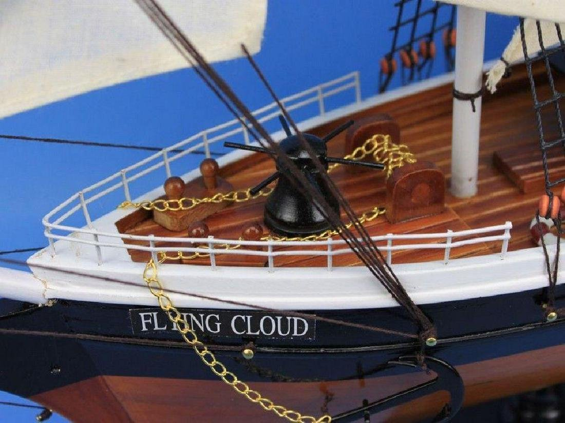 "Wooden Flying Cloud Tall Model Clipper Ship 30"" - 6"