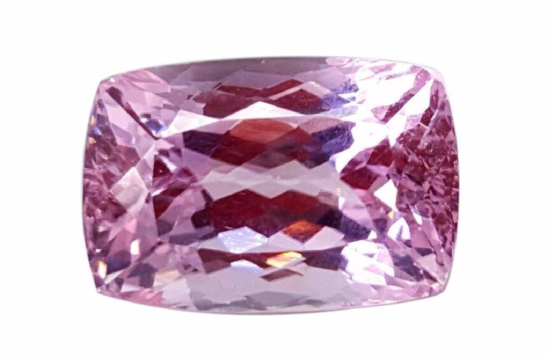 Huge 43ct Certified Natural  Pink Cushion Cut Brazilian