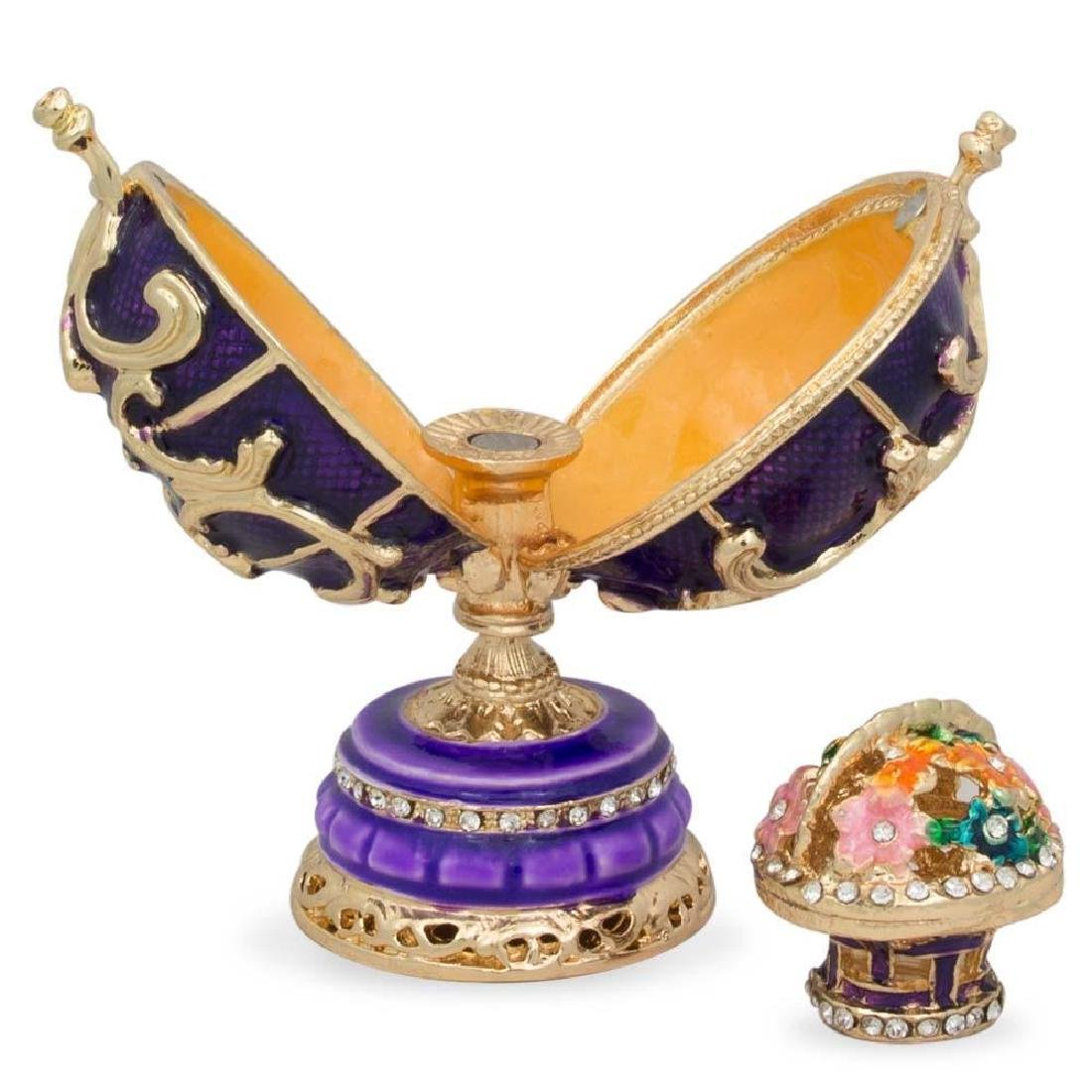 """1899-1903 Spring Flowers Russian Faberge Egg 3"""" - 3"""