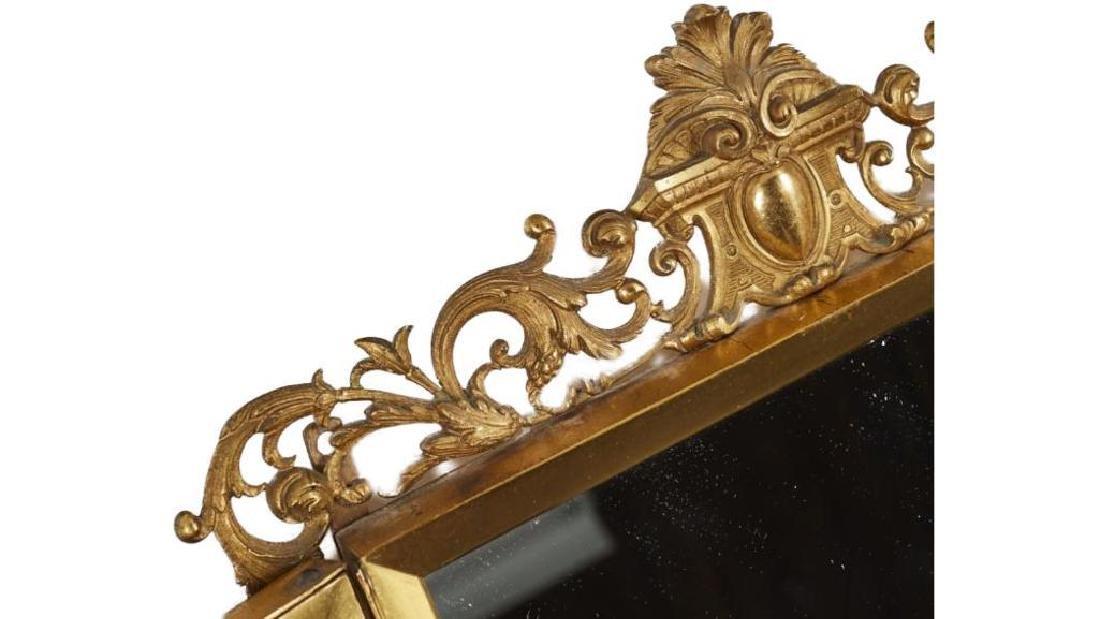 French 19c Gilt Brass Folding Vanity Mirror - 4