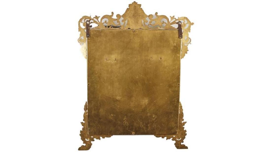 French 19c Gilt Brass Folding Vanity Mirror - 6