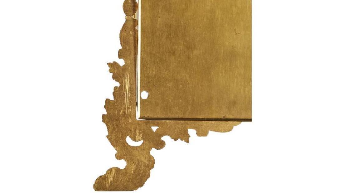 French 19c Gilt Brass Folding Vanity Mirror - 8
